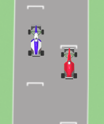 Oversteer Racing screenshot showing two cars on track